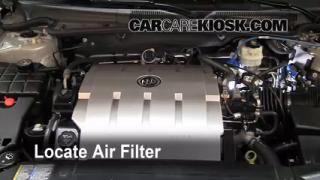 2006-2011 Buick Lucerne Engine Air Filter Check