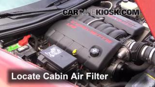 Cabin Filter Replacement: Chevrolet Corvette 2005-2010