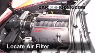 2005-2010 Chevrolet Corvette Engine Air Filter Check