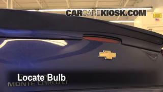 Third Brake Light Bulb Change Chevrolet Monte Carlo (2006-2007)