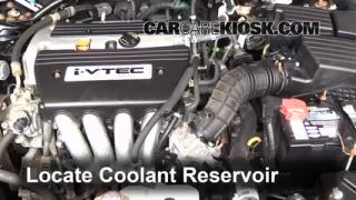 Coolant Level Check: 2003-2007 Accord