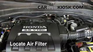 2003-2008 Honda Pilot Engine Air Filter Check