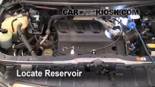 Check Windshield Washer Fluid Mazda MPV (2000-2006)