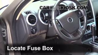 Interior Fuse Box Location: 2002-2010 Mercury Mountaineer
