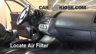 Cabin Filter Replacement: 2002-2006 Nissan Altima