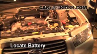 Battery Replacement: 2003-2008 Subaru Forester