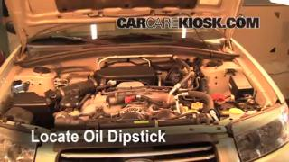 Check Oil Level 2006-2008 Subaru Forester