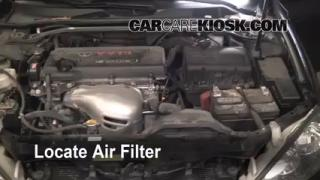 2002-2006 Toyota Camry Engine Air Filter Check