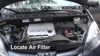 2004-2010 Toyota Sienna Engine Air Filter Check
