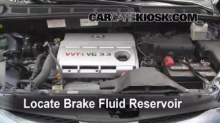 Add Brake Fluid: 2004-2010 Toyota Sienna