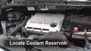 Coolant Level Check: 2004-2010 Sienna