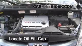 How to Add Oil Toyota Sienna (2004-2010)