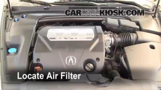 2004-2008 Acura TL Engine Air Filter Check