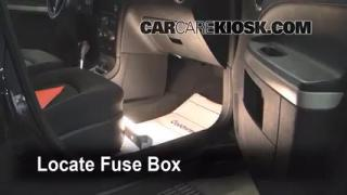 Interior Fuse Box Location: 2006-2011 Chevrolet HHR