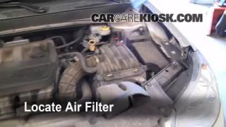 2007-2010 Chrysler Sebring Engine Air Filter Check