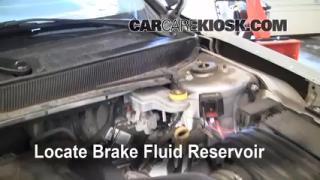 2007-2010 Chrysler Sebring Brake Fluid Level Check