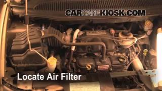 2001-2004 Dodge Caravan Engine Air Filter Check