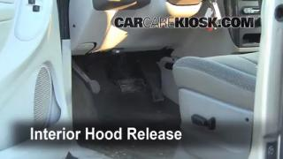 Open Hood How To 2005-2007 Chrysler Town and Country