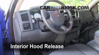 Open Hood How To 2006-2008 Dodge Ram 1500