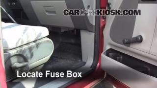 Interior Fuse Box Location: 2004-2008 Ford F-150