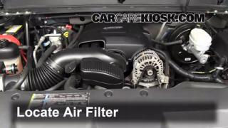 2007-2013 GMC Sierra 1500 Engine Air Filter Check