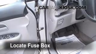 Interior Fuse Box Location: 2007-2010 Kia Rondo