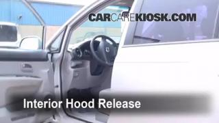 Open Hood How To 2007-2010 Kia Rondo