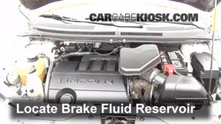 2007-2013 Lincoln MKX Brake Fluid Level Check