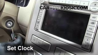 How to Set the Clock on a Lincoln MKX (2007-2013)