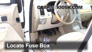 Interior Fuse Box Location: 2007-2013 Lincoln MKX