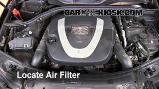 2006-2011 Mercedes-Benz ML350 Engine Air Filter Check