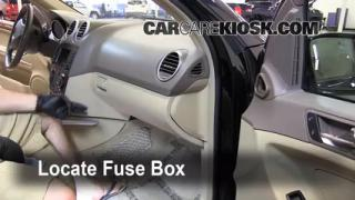 Interior Fuse Box Location: 2006-2011 Mercedes-Benz ML350