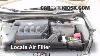 2007-2012 Nissan Altima Engine Air Filter Check