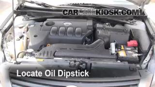 Check Oil Level 2007-2012 Nissan Altima
