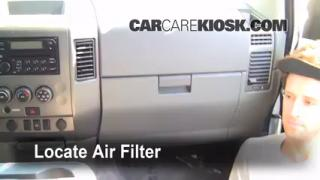 2004-2013 Nissan Titan Cabin Air Filter Check