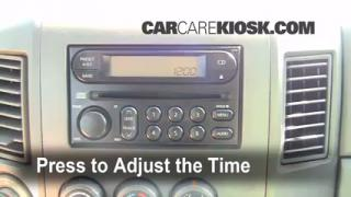 How to Set the Clock on a Nissan Pathfinder (2001-2004)