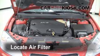 2007-2009 Saturn Aura Engine Air Filter Check