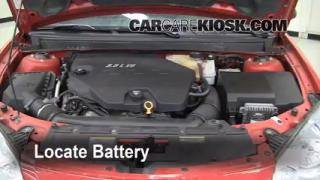 Battery Replacement: 2007-2009 Saturn Aura