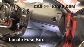 Interior Fuse Box Location: 2005-2010 Pontiac G6