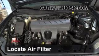 2004-2008 Pontiac Grand Prix Engine Air Filter Check