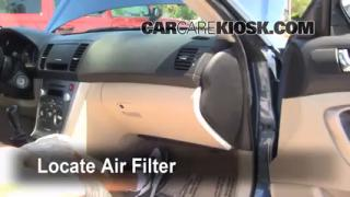 Cabin Filter Replacement: Subaru Legacy 2005-2009