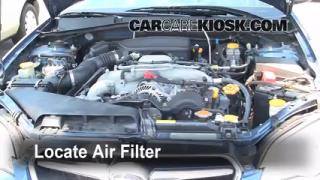 2005-2009 Subaru Legacy Engine Air Filter Check