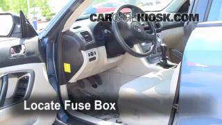 Interior Fuse Box Location: 2005-2009 Subaru Legacy
