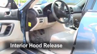 Open Hood How To 2005-2009 Subaru Legacy