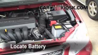Battery Replacement: 2003-2008 Toyota Corolla