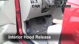 Open Hood How To 2003-2008 Toyota Corolla