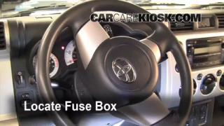 Interior Fuse Box Location: 2007-2013 Toyota FJ Cruiser