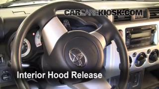 Open Hood How To 2007-2013 Toyota FJ Cruiser