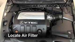 2005-2008 Acura RL Engine Air Filter Check