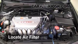 2004-2008 Acura TSX Engine Air Filter Check